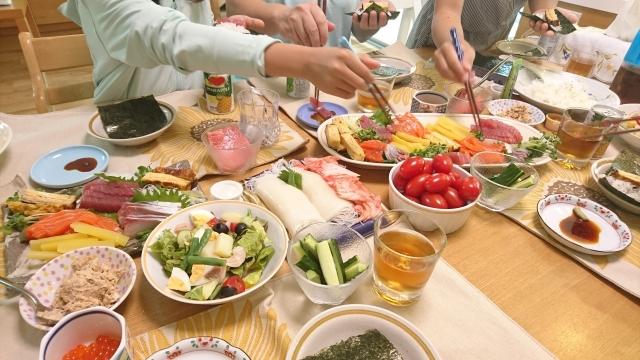 子供と手巻き寿司