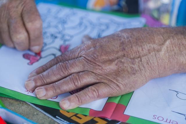 高齢者の塗り絵